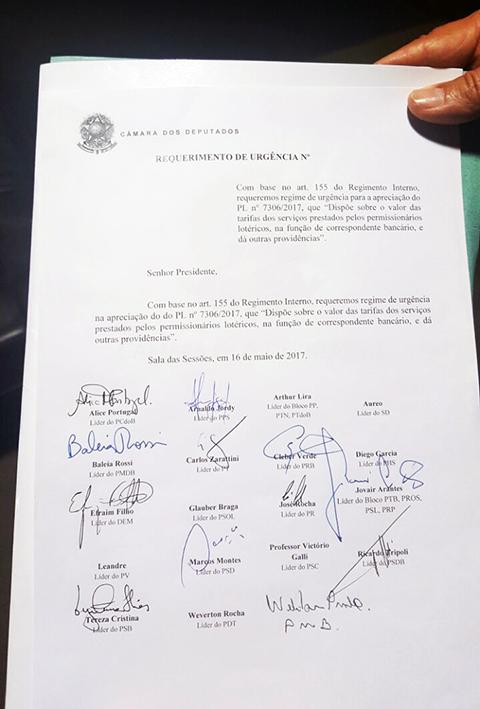 Assinaturas Req de Urgencia